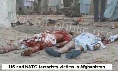 Rakyat Afghanistan yang mati karena bom yang dijatuhkan dari pesawat AS dan NATO