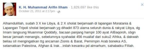 FB Arifin Ilham Qaddafi