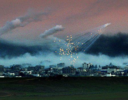 Bomb rain in Gaza