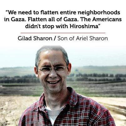 Gilad Sharon want to Nuke Gaza?