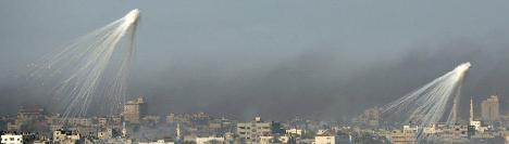 Hujan bom yang ditebarkan pesawat tempur Israel