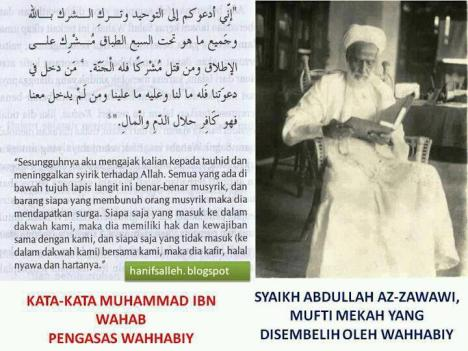 Mufti Mekkah Syekh Abdullah Az Zawawi yang Disembelih Wahhabi
