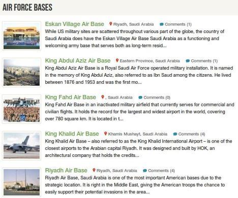 Pangkalan Udara Militer AS di Arab Saudi
