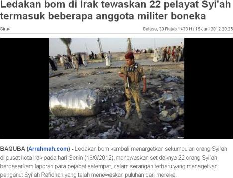 22 Muslim Syiah Tewas Dibom Wahabi