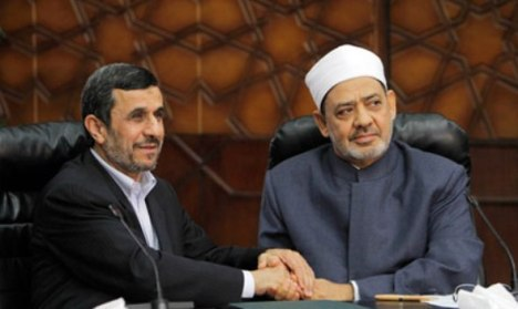 Ahmadinejad dan Syekh Al Azhar Ahmad Thayyib