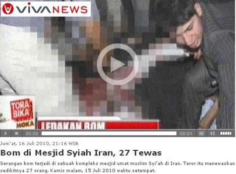 Bom di Masjid Syiah Iran