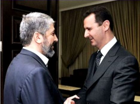 Khaled Meshaal dan Bashar Assad