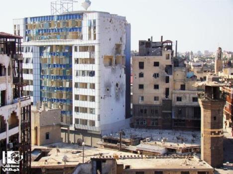 Mal di Pusat Kota Homs