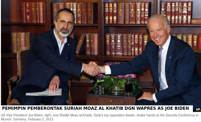 U.S. Puppet leader of Syria with U.S. Vice President