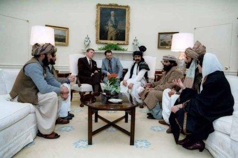 Reagan Meets Taliban at Whitehouse