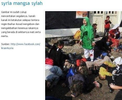 Foto Palsu Bom di Suriah