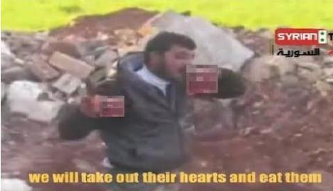 Wahabi Abu Sakkar Makan Jantung Orang Syi'ah