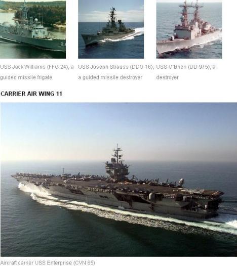 Beberapa Kapal Perang AS yang Menyerang Iran
