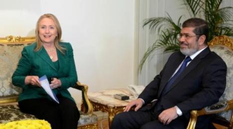 Mursi dengan Hillary Clinton November 2012