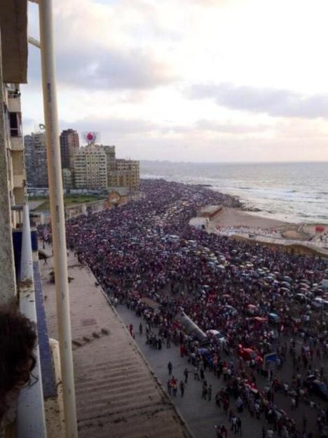 Demo Anti Mursi di Alexandria