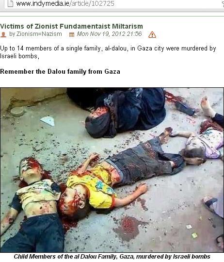 Foto Asli Korban di Gaza Indymedia