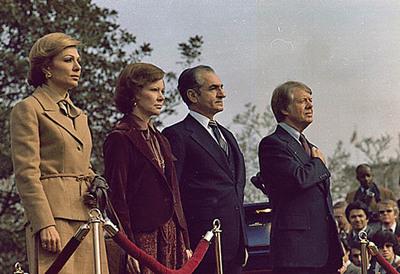 Jimmy dan Rosalynn Carter bersama Shah dan Shahbanu Iran