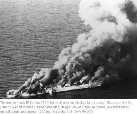 Kapal Perang Iran Sahand Dihancurkan AS