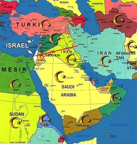 Peta Iran Israel