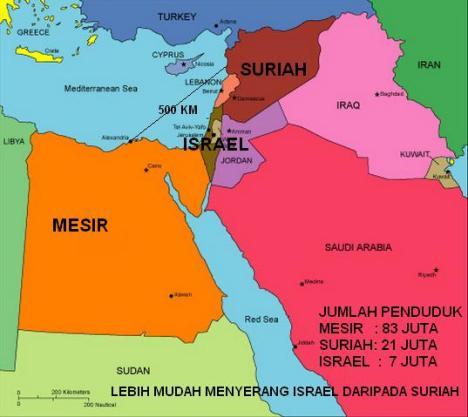 Peta Mesir Israel