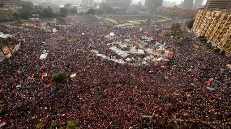 Protesters against Egyptian President Mohamed Mursi in Tahrir Square in Cairo