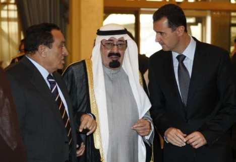 King Abdullah, Hosni Mubarak, Bashar Assad