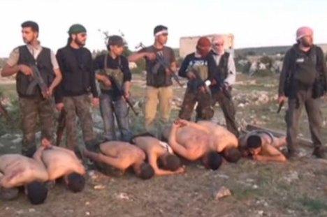 Pemberontak Suriah Bantai Tentara Suriah