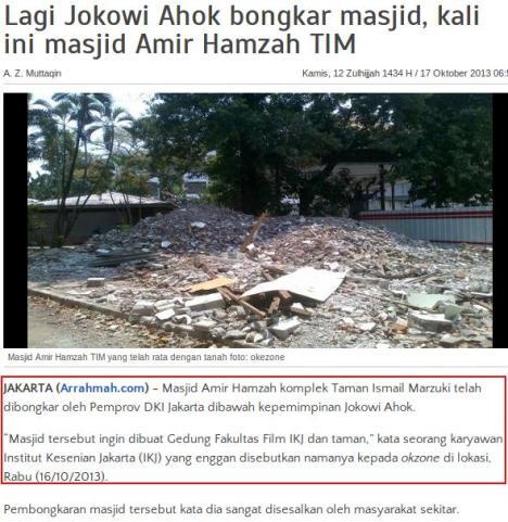 Fitnah Arrahmah Masjid TIM