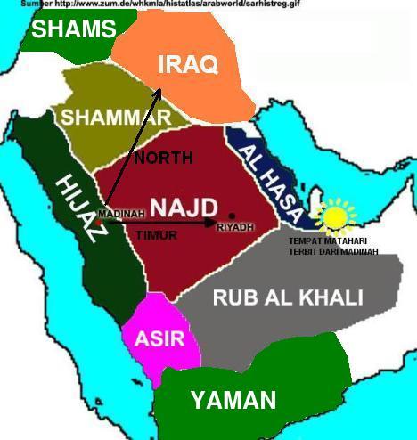 Syams Yaman dan Najd