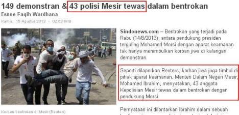 Polisi Mesir Tewas