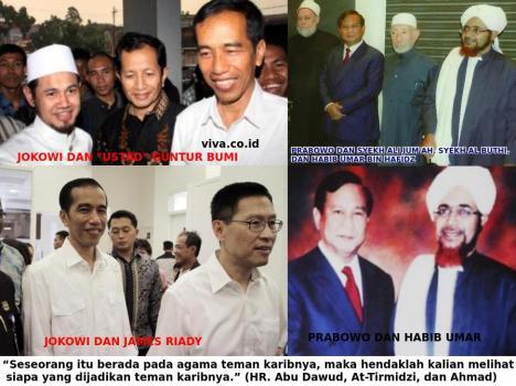 Teman Jokowi dan Prabowo