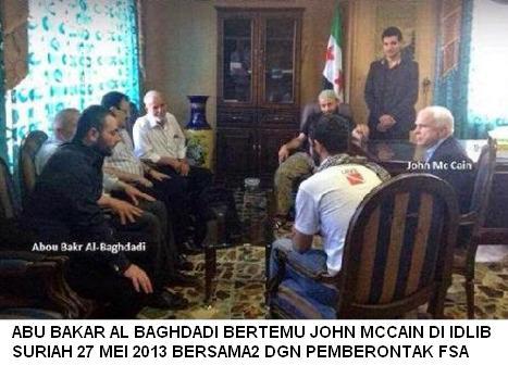 Abu Bakar Al Baghdadi dan John McCain