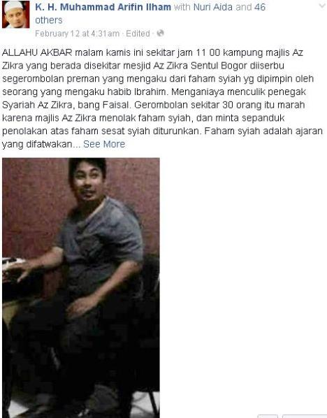 KH Arifin Ilham dan Penyerang