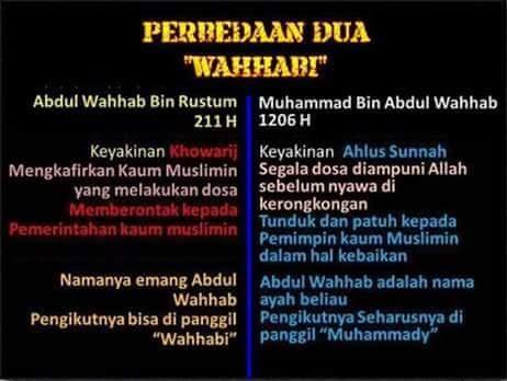 Perbedaan Wahabi