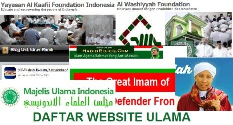 DAFTAR WEBSITE ULAMA