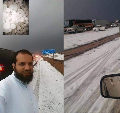 Salju di Arab