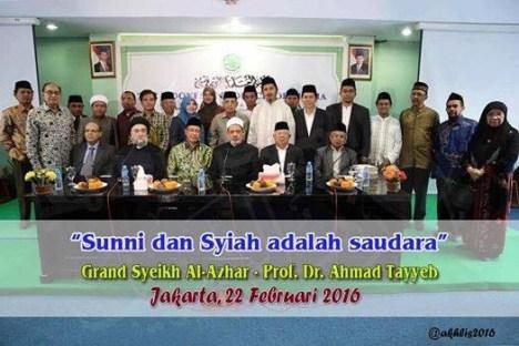 Syekh Al Azhar Sunni dan Syi'ah Bersaudara